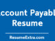 Account Payable Resume Sample