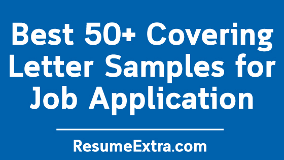 Covering Letter Samples for Job Application