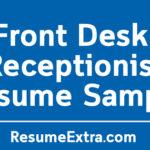 Front Desk Receptionist Resume Sample