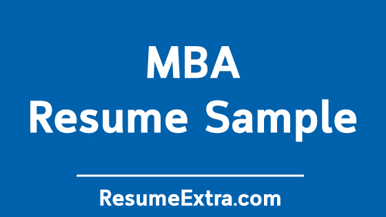 MBA Resume Sample