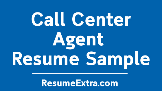 Sample Resume For Call Center Agent Applicant Without Experience