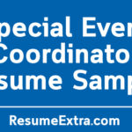 Special Event Coordinator Resume Sample