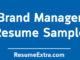 Brand Manager Resume Sample