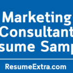 Marketing Consultant Resume Sample