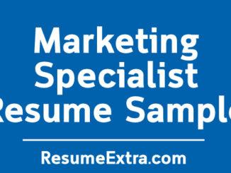 Marketing Specialist Resume Sample
