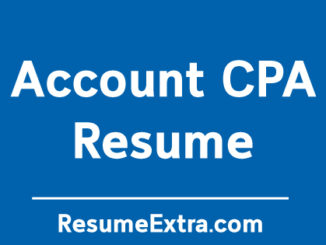 Account CPA Resume Sample