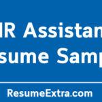 Professional HR Assistant Resume Sample