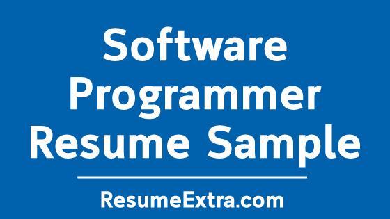Software Programmer Resume Sample
