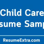 Professional Child Care Resume Sample