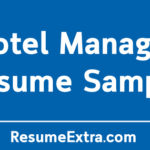 Professional Hotel Manager Resume Sample