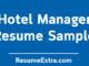 Hotel Manager Resume Sample