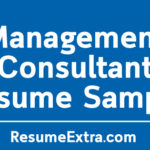 Management Consultant Resume Sample