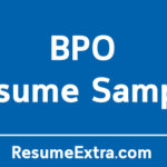 Professional BPO Resume Sample