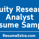 Equity Research Analyst Resume Sample