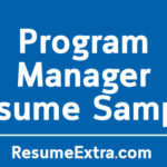 Engaging Program Manager Resume Sample
