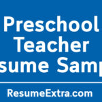 Engaging Preschool Teacher Resume Sample