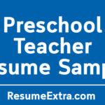 Engaging Preschool Teacher Resume Sample