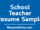 School Teacher Resume Sample