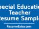 Special Education Teacher Resume Sample