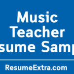 Professional Music Teacher Resume Sample
