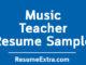 Music Teacher Resume Sample