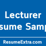 Engaging Lecturer Resume Sample