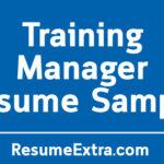 Interesting Training Manager Resume Sample
