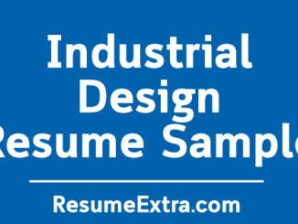 Industrial Designer Resume Sample