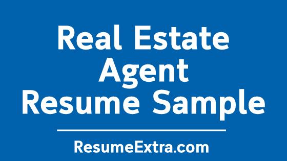 Real Estate Agent Resume Sample Resumeextra