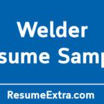 Professional Welder Resume Sample
