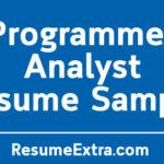 Programmer AnalystResume Sample
