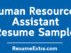 Human Resources Assistant ResumeSample