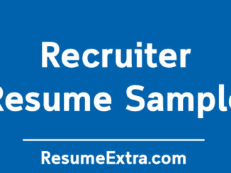 Recruiter Resume Sample
