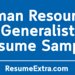 Human Resources Generalist Resume Sample
