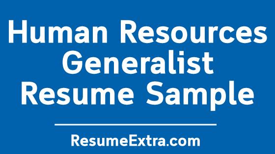 Free Human Resources Generalist Resume Sample