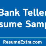 Professional Bank Teller Resume Sample