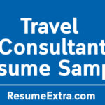Travel Consultant Resume Sample