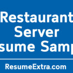 Restaurant Server Resume Sample and Required Skills