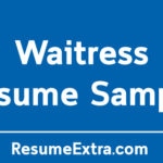Waitress Resume Sample and Required Skills