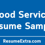 Food Service Resume Sample and Required Skills
