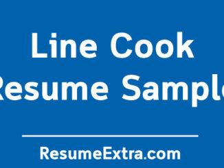 Line Cook Resume Sample