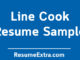 Line Cook Resume Sample