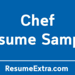 Chef Resume Sample and Required Skills
