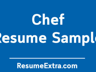 Chef Resume Sample
