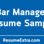 Bar Manager Resume Sample and Required Skills
