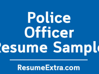 Police Officer Resume Sample