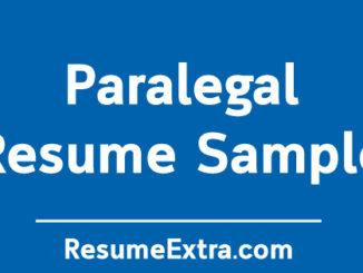 Paralegal Resume Sample