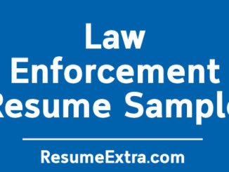 Law Enforcement Resume Sample