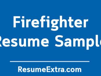 Firefighter Resume Sample