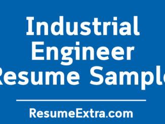 Industrial Engineer Resume Sample